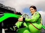 danica getting in car