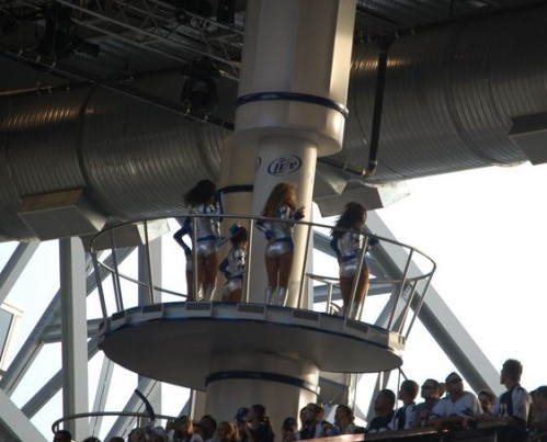 Cowboys Cheerleaders cage dance