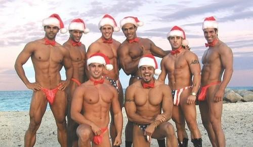 Sexy Santa men