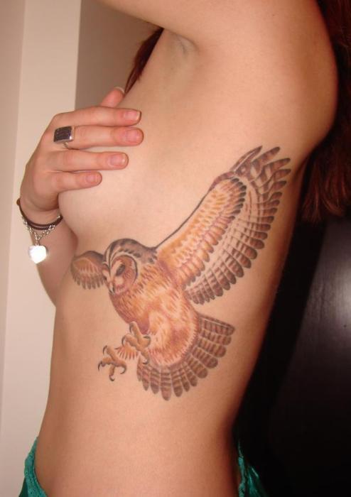 Skylar Grey Owl Tattoo