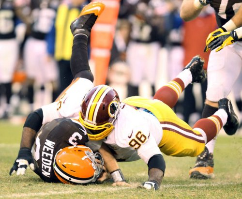 Weeden Sacked Redskins
