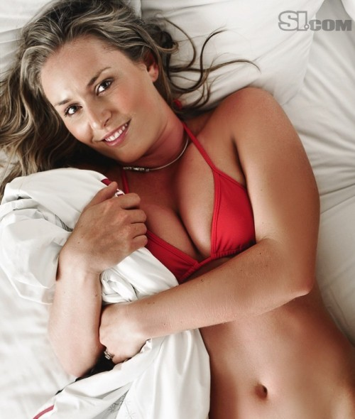 Lindsey Vonn in bed