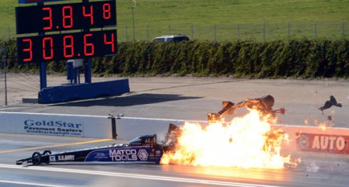 Antron Brown Pomona Crash