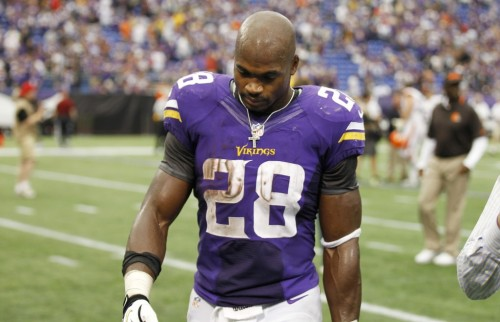 Adrian Peterson Dejected