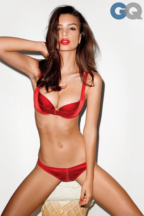Emily Ratajkowski in Red