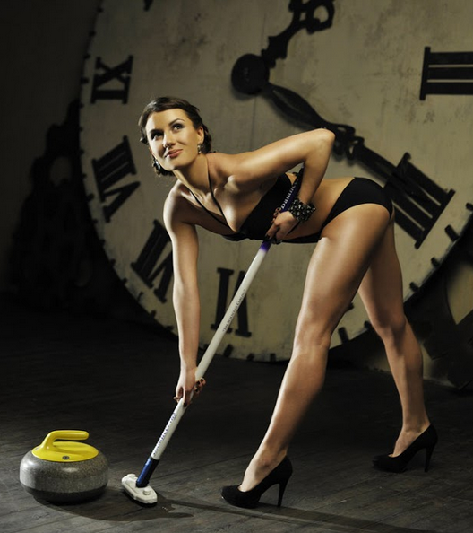 Nude women of curling calendar names