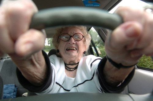 Old Lady Driving
